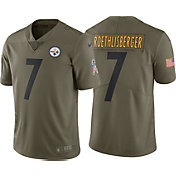 Nike Men's Home Limited Salute to Service Pittsburgh Steelers Ben Roethlisberger #7 Jersey