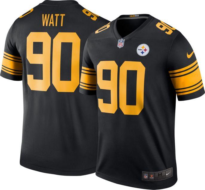 new style 8ebdf 26720 Nike Men's Color Rush Legend Jersey Pittsburgh Steelers T.J. Watt #90