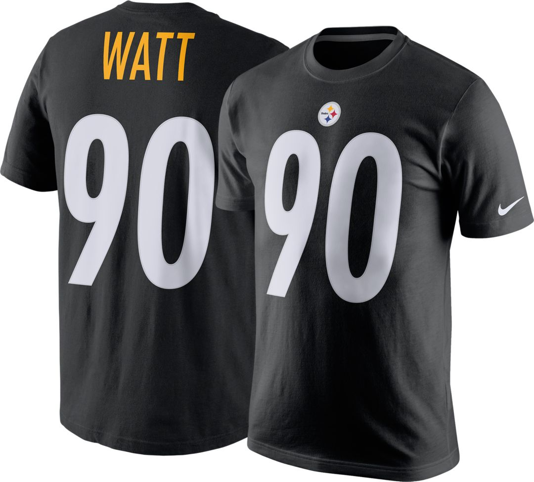 best service af1d7 4cf28 Nike Men's Pittsburgh Steelers T.J. Watt #90 Pride Black T-Shirt