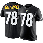 Nike Men's Pittsburgh Steelers Alejandro Villanueva #78 Pride Black T-Shirt