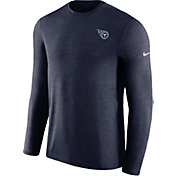 Nike Men's Tennessee Titans Sideline Coaches Performance Navy Long Sleeve Shirt