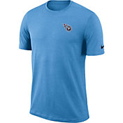 Nike Men's Tennessee Titans Sideline Coaches Performance Blue T-Shirt