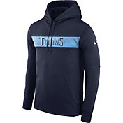 Nike Men's Tennessee Titans Sideline Therma-FIT Navy Pullover Hoodie