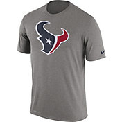 Nike Men's Houston Texans Legend Logo Performance Grey T-Shirt