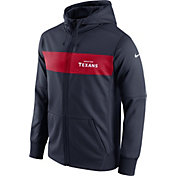 Nike Men's Houston Texans Sideline Therma-FIT Navy Full-Zip Hoodie