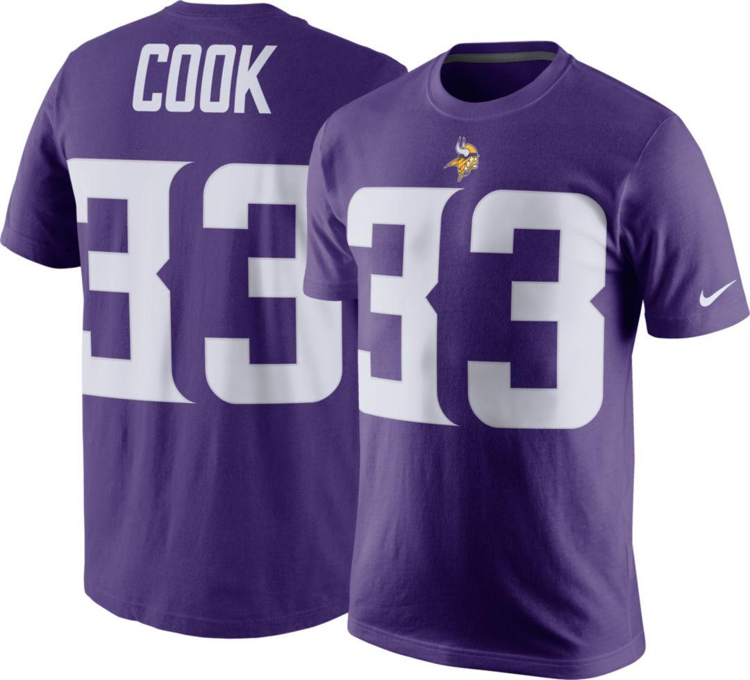 size 40 6213b 0b42a Nike Men's Minnesota Vikings Dalvin Cook #33 Pride Purple T-Shirt