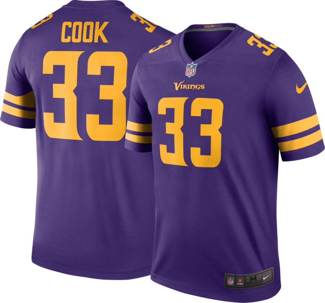 newest collection 6020b 24c38 Nike Men's Color Rush Legend Jersey Minnesota Vikings Dalvin Cook #33