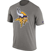 Nike Men's Minnesota Vikings Legend Logo Grey T-Shirt