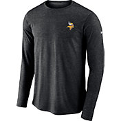 Nike Men's Minnesota Vikings Sideline Coaches Performance Black Long Sleeve Shirt