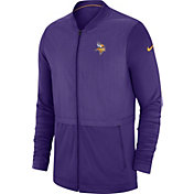 Nike Men's Minnesota Vikings Sideline Hybrid Full-Zip Purple Jacket