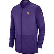Nike Men's Minnesota Vikings Sideline Hybrid Full-Zip Purple Jacket