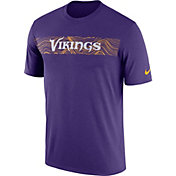 Nike Men's Minnesota Vikings Sideline Seismic Legend Performance Purple T-Shirt