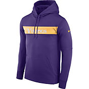 Nike Men's Minnesota Vikings Sideline Therma-FIT Purple Pullover Hoodie