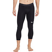 Nike Men's Pro 3/4 Length Tights in Black/Anthracite/White