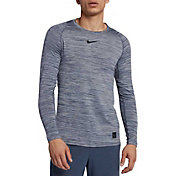 Nike Men's Pro Heather Long Sleeve Fitted Shirt