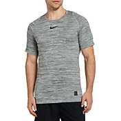 Nike Men's Pro Heather Printed Fitted T-Shirt