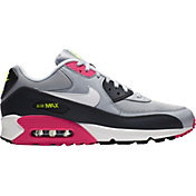 00d6f3c984172 Product Image · Nike Men's Air Max '90 Essential Shoes in Grey/Pink