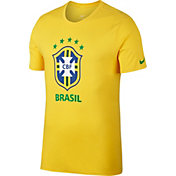 Nike Men's 2018 FIFA World Cup Brazil Crest Yellow T-Shirt