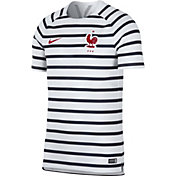 Nike Men's 2018 FIFA World Cup France White Striped Training Top