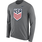 Nike Men's USA Legend Crest Grey Long Sleeve