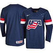 Nike Men's USA Hockey World Junior Classic Replica Navy Jersey