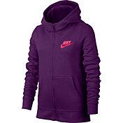 Nike Girls' Sportswear Club Cotton Full Zip Hoodie