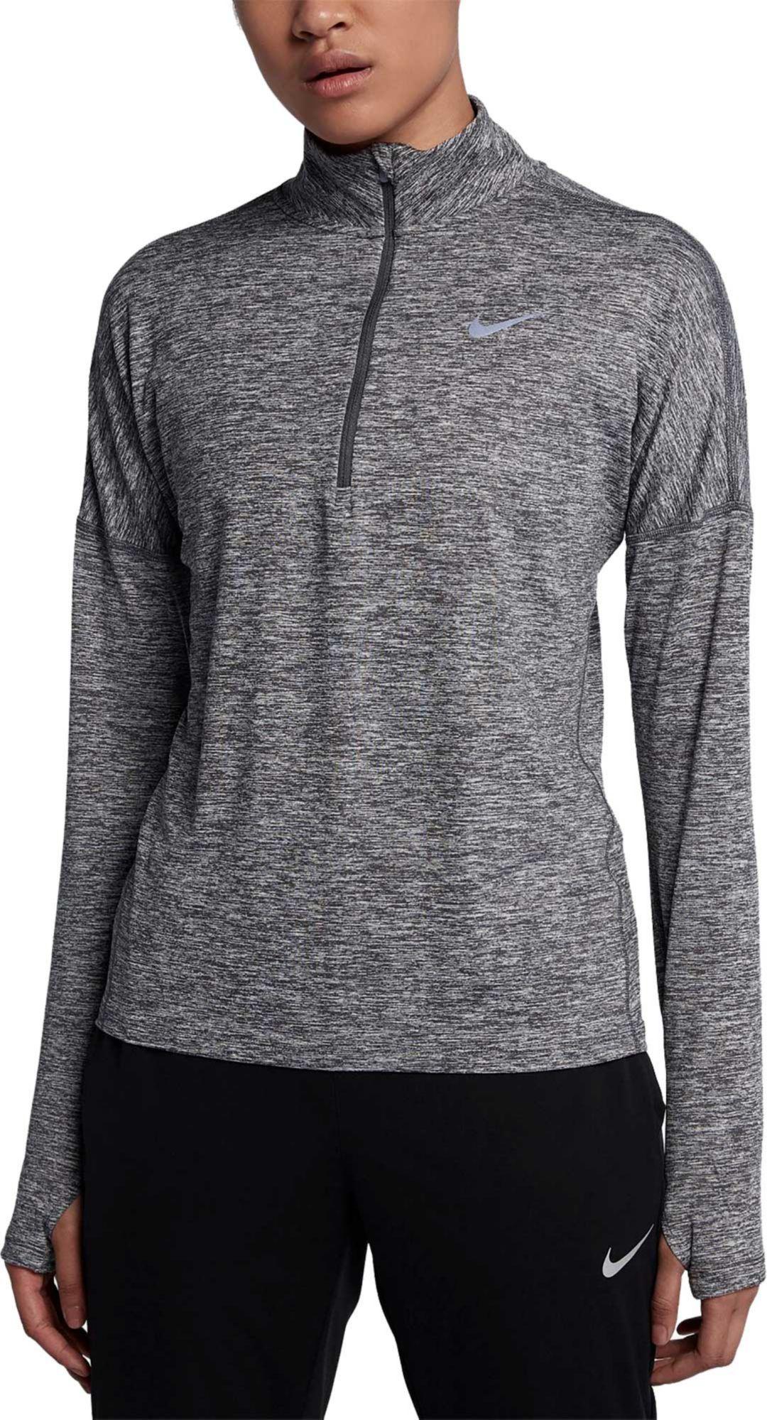 861244f615732 Nike Women's Dry Element Half Zip Long Sleeve Running Shirt | DICK'S ...