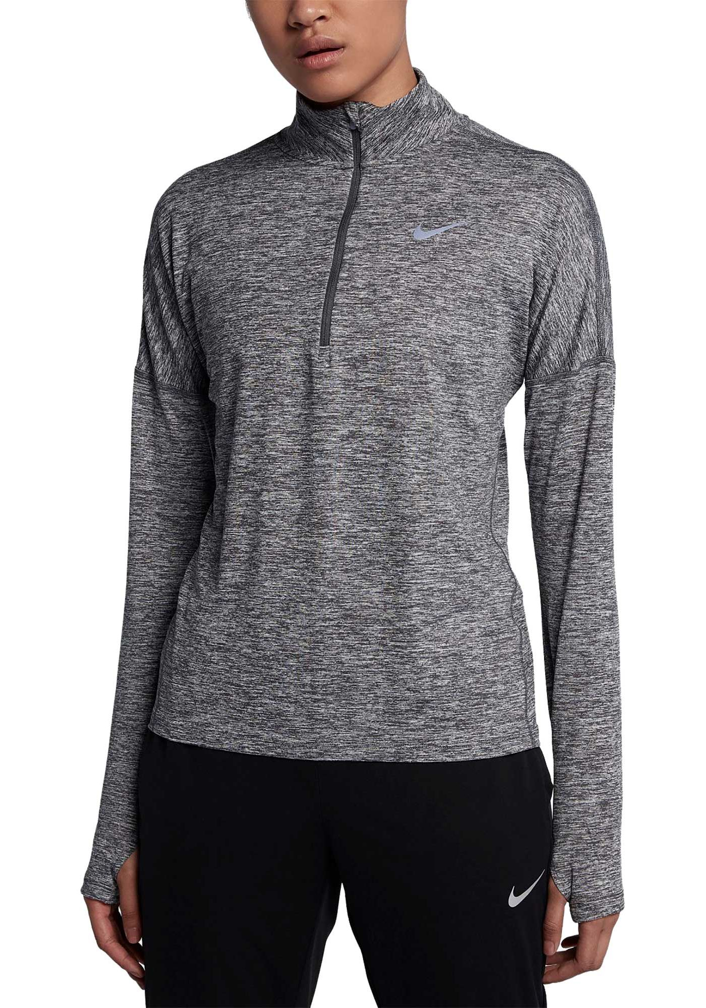 Nike Women's Dry Element Half Zip Long Sleeve Running Shirt