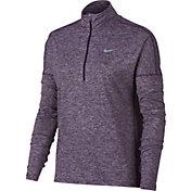 Nike Women's Dry Element Half Zip Long Sleeve Running Shirt
