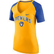 Nike Women's Milwaukee Brewers Fan V-Neck Shirt