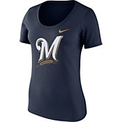 Nike Women's Milwaukee Brewers Navy Scoop Neck T-Shirt