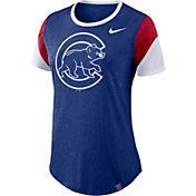 Nike Women's Chicago Cubs Tri-Blend T-Shirt
