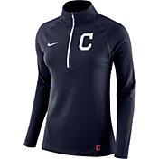 Nike Women's Cleveland Indians Dri-FIT Core Half-Zip Jacket