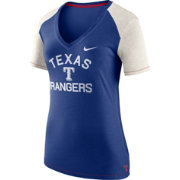 Nike Women's Texas Rangers Fan V-Neck Shirt