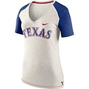 Nike Women's Texas Rangers Fan V-Neck Shirt