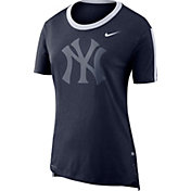 Nike Women's New York Yankees Dri-Blend Hilo Mesh T-Shirt
