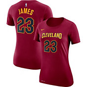 Nike Women's Cleveland Cavaliers LeBron James #23 Dri-FIT Burgundy T-Shirt