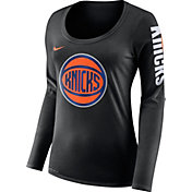 Nike Women's New York Knicks Dri-FIT Black Logo Long Sleeve Shirt