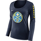 Nike Women's Denver Nuggets Dri-FIT Navy Logo Long Sleeve Shirt