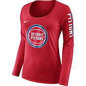Product Image · Nike Women s Detroit Pistons Dri-FIT Red Logo Long Sleeve  Shirt 59c81cefd