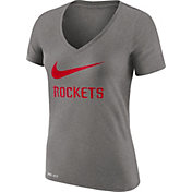 Nike Women's Houston Rockets Dri-FIT Legend Grey V-Neck T-Shirt