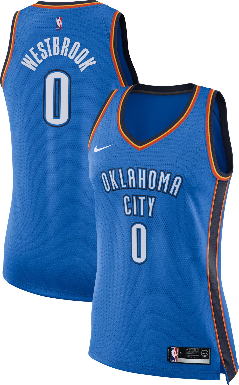 Nike Women's Oklahoma City Thunder Russell Westbrook #0 Blue Dri-FIT Swingman Jersey