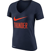 Nike Women's Oklahoma City Thunder Dri-FIT Legend Navy V-Neck T-Shirt