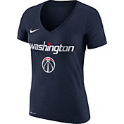 Nike Women's Washington Wizards Dri-FIT Navy Wordmark V-Neck T-Shirt