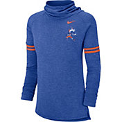 Nike Women's Boise State Broncos Blue Funnel Neck Long Sleeve Top
