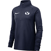 Nike Women's BYU Cougars Blue Core Half-Zip Shirt
