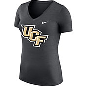 Nike Women's UCF Knights Heathered Black Dri-FIT Touch V-Neck T-Shirt