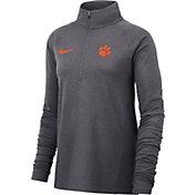 Nike Women's Clemson Tigers Grey Core Half-Zip Shirt