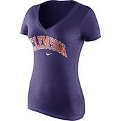 Nike Women's Clemson Tigers Regalia Wordmark V-Neck T-Shirt