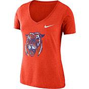 Nike Women's Clemson Tigers Orange Vault Tri-Blend V-Neck T-Shirt